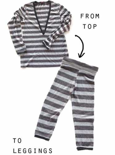 Tutorial: Make kid leggings from an old top