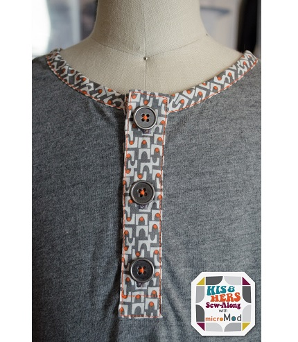Tutorial: Add a henley neck to a t-shirt