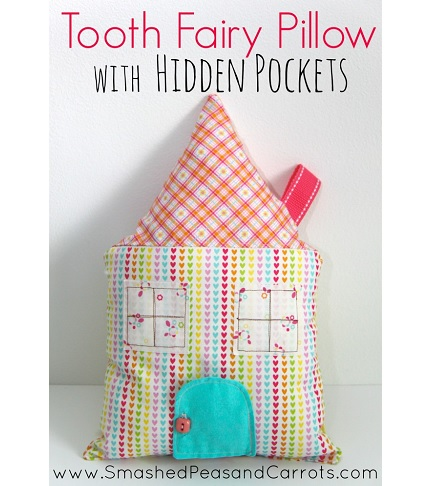 Tutorial: House tooth fairy pillow with hidden pockets