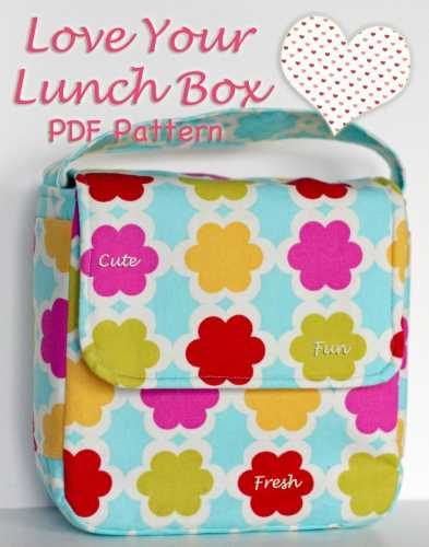 lunch bag with bonus snack bag pattern