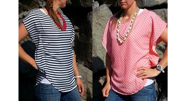 Tutorial: Chiffon poncho shirt