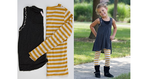 Tutorial: Women's tops refashioned into a child's tunic and leggings