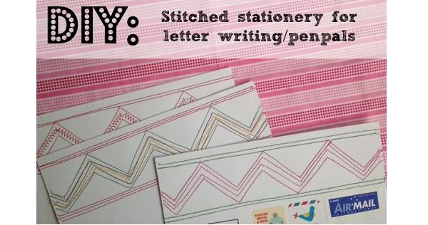 Tutorial: Stitch up some stationery