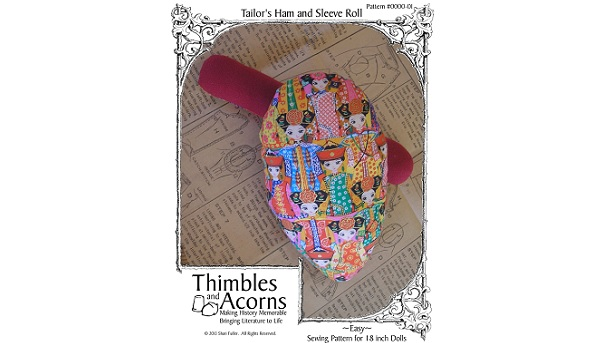 Free pattern: Mini tailor's ham and sleeve roll for sewing doll clothes