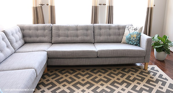 Video tutorial: Tuft your couch cushions
