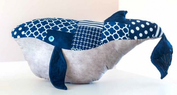 Free pattern: Wesley the Very Big Whale softie – Sewing