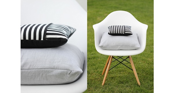Tutorial: Zippered pillow covers 2 ways
