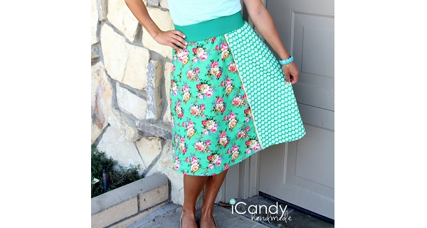 Tutorial: 4quarters and Exposed Elastic skirt mash-up
