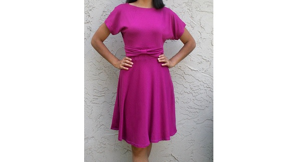 Free pattern: Irene Dress with bow waist and circle skirt