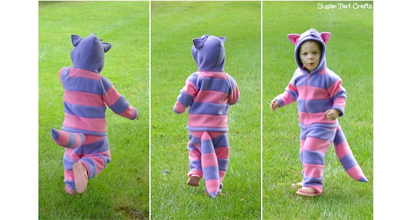 Tutorial: Cheshire Cat Halloween costume for little kids – Sewing