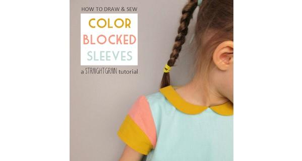 Tutorial: Color blocked cap sleeves