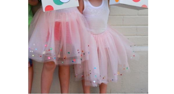 Tutorial Sparkle Confetti Tutu Sewing