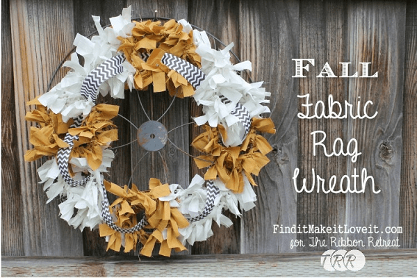 Tutorial No Sew Fall Fabric Rag Wreath Sewing