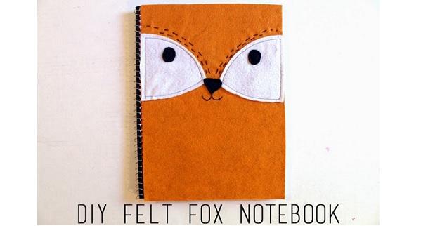 Tutorial: Felt fox notebook cover