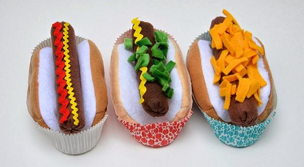 Tutorial: Felt hot dog play set – Sewing