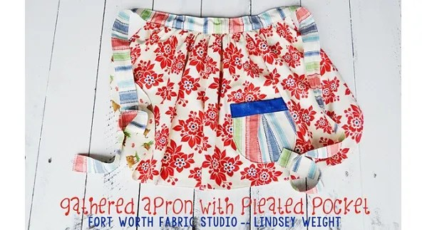 Tutorial: Gathered half apron with a pleated pocket