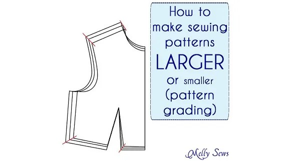 Tutorial: Resize a sewing pattern to make it bigger or smaller
