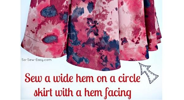 Tutorial: Wide hem on a circle skirt