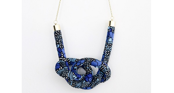 Tutorial: Fabric knot necklace