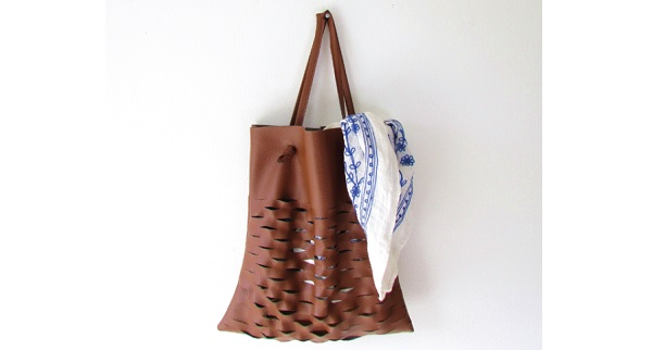 Tutorial: Leather lattice tote