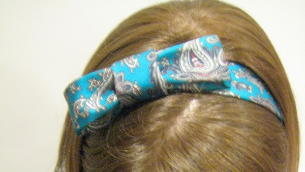 Tutorial: Two headbands from one neck tie