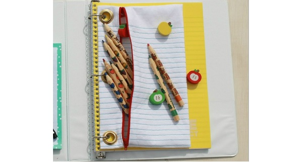 Tutorial: Notebook paper pencil pouch