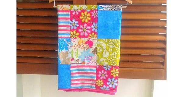 Tutorial: Patchwork baby blanket