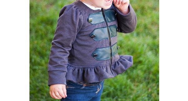 Free pattern: Little girls military inspired peplum jacket