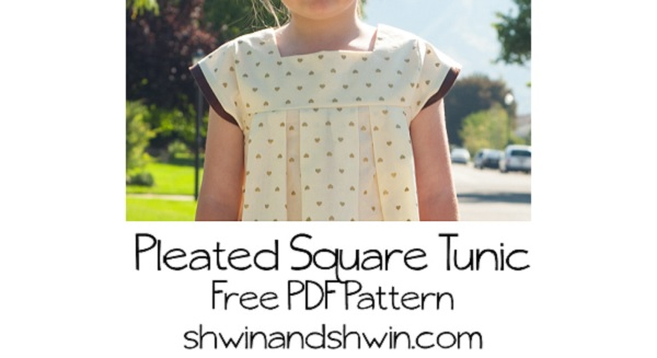 Free pattern: Little girls Pleated Square Tunic
