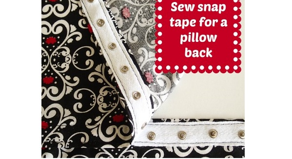 Tutorial: Snap tape pillow closure