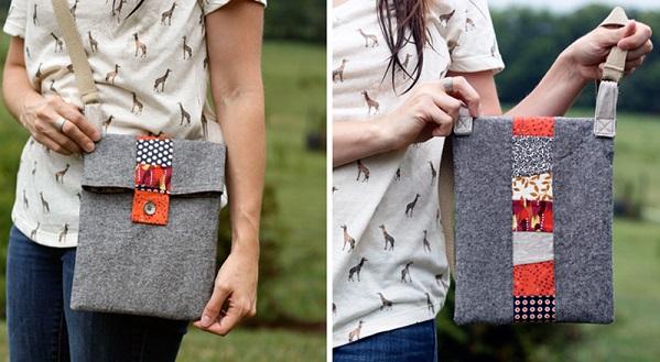 Tutorial: Scrappy Stripe Tablet Bag