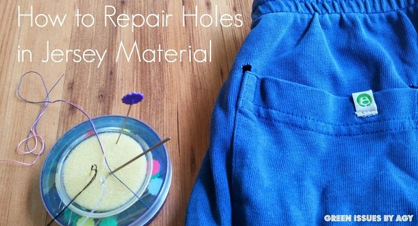 Tutorial: How to repair small holes in knit fabric