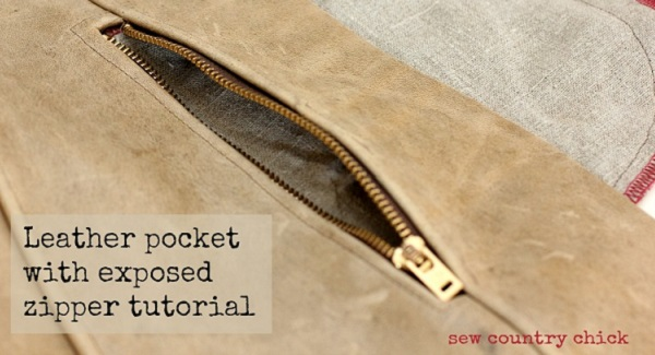 Tutorial: In-seam exposed zipper pocket in leather