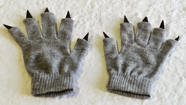 Tutorial No Sew Monster Claw Gloves Sewing