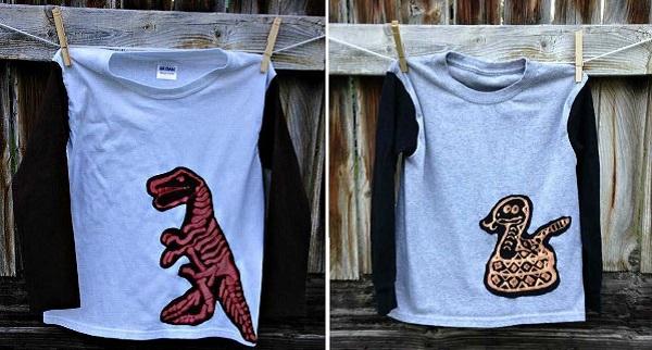 Tutorial: Bleach out a cool applique for boys shirts