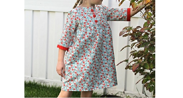 Free pattern: Brooklyn Empire Dress for little girls