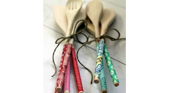 Tutorial: Fabric wrapped wooden spoons