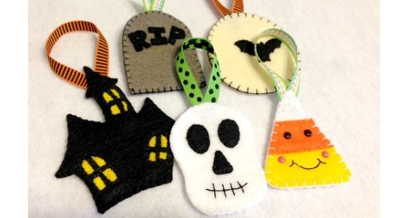Free pattern: Felt Halloween ornaments