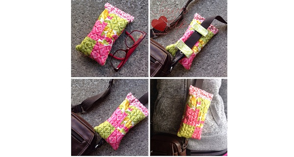 Tutorial: Glasses case you can clip to your purse strap