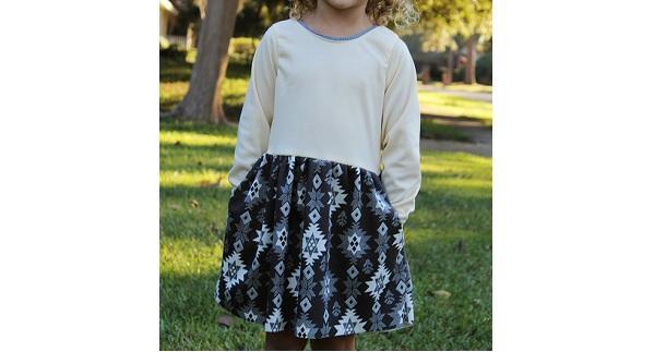 Tutorial: Little girls knit dress with pockets