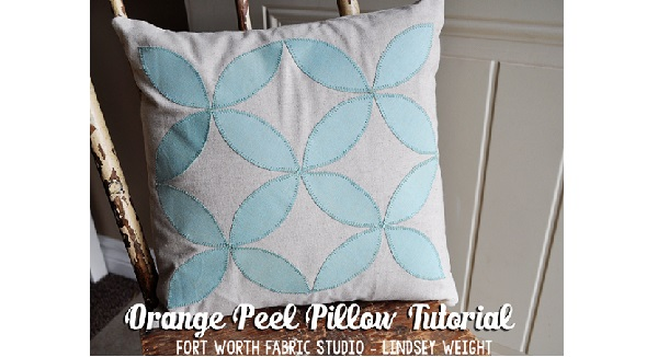 Tutorial: Orange peel appliqued throw pillow
