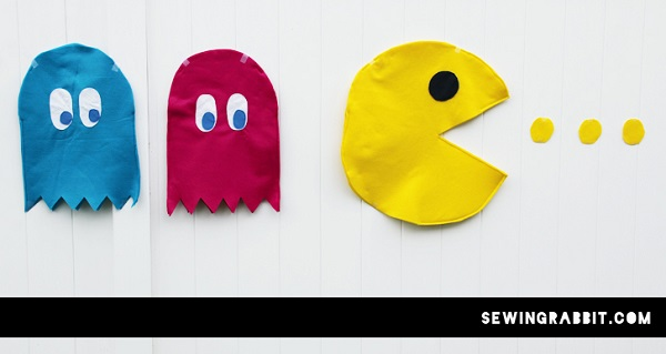 Tutorial: Pac-Man and ghost Halloween costumes