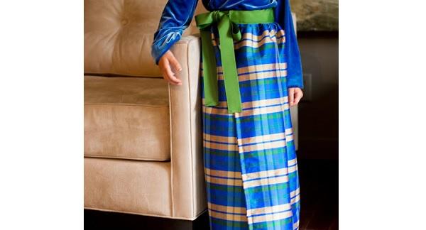 Tutorial: Girls plaid taffeta wrap skirt