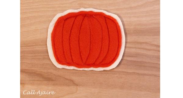 Tutorial: Easy felt pumpkin coasters