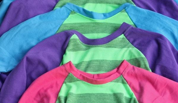 Free Pattern Kids Long Sleeve Raglan Sleeve T Shirt Sewing