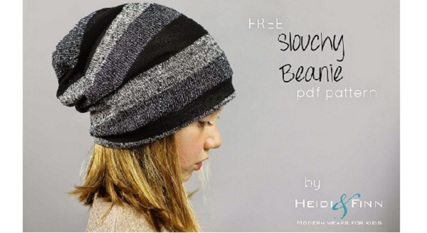 Free Pattern Kids Slouchy Beanie Hat Sewing