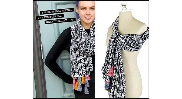 Tutorial: Tasseled chiffon scarf