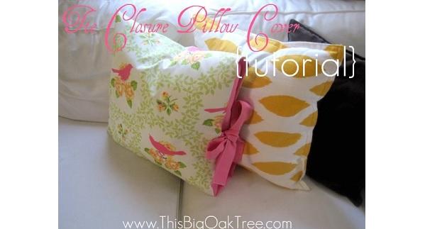 Tutorial: Tie closure pillow cover