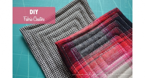 Tutorial Fabric Coasters Sewing