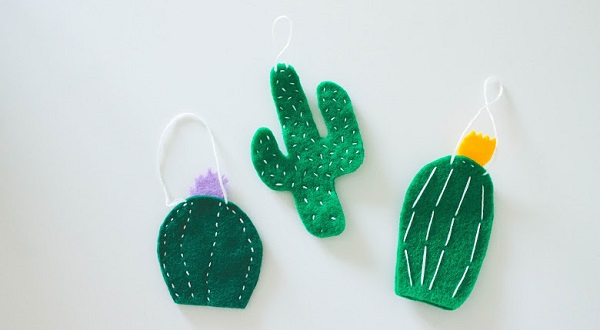 Tutorial: Cactus Christmas ornaments